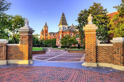 The Clock Photograph - Auburn University Mornings by JC Findley