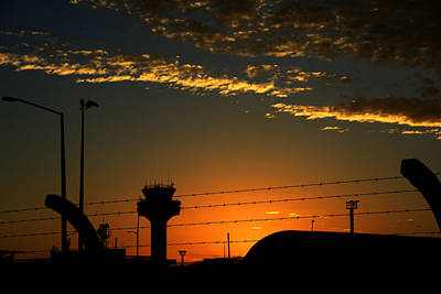 Auckland Airport Sunrise Art Print by Chris Hung