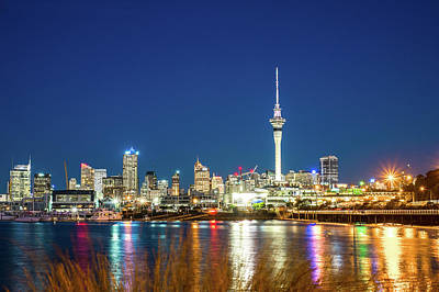 Auckland At Dusk Art Print