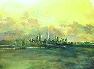 Ferry Painting - Auckland By Sea by Virgil Carter