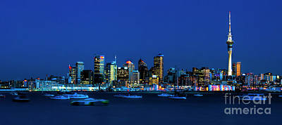 Photograph - Auckland City Night Lights by Karen Lewis