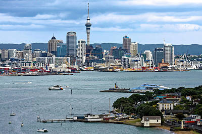 Photograph - Auckland Cityscape by Sally Weigand