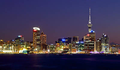 Photograph - Auckland Skyline At Dusk by Nicholas Blackwell