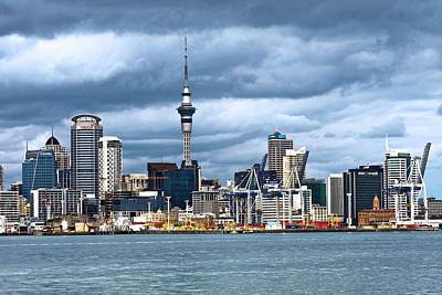 Photograph -  Auckland Skyline by Sally Weigand