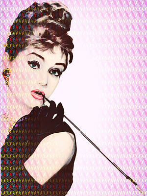 Drawing - Audery Hepburn by Allen Beilschmidt
