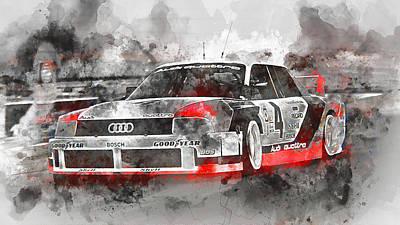 Painting - Audi 90 Quattro Imsa Gto - Watercolor 05 by Andrea Mazzocchetti