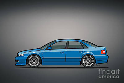 Audi A4 Quattro B5 Type 8d Sedan Nogaro Blue Original by Monkey Crisis On Mars
