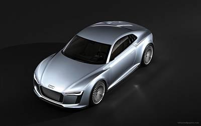Tron Wall Art - Digital Art - Audi E Tron Car Widescreen by Mery Moon