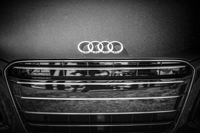 Photograph - Audi Grille Emblem -2333bw by Jill Reger