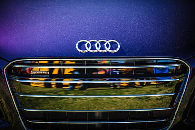 Photograph - Audi Grille Emblem -2333c by Jill Reger