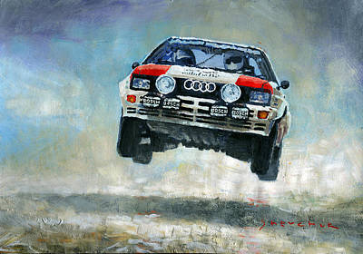 Audi Painting - Audi Quattro Gr.4 1982 by Yuriy Shevchuk