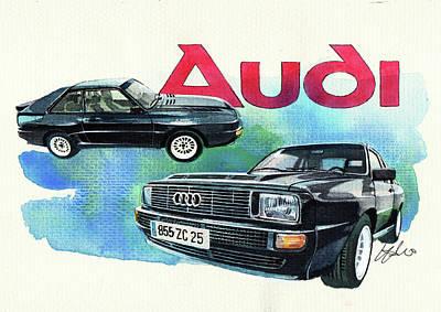 1984 Painting - Audi Quattro Sport by Yoshiharu Miyakawa