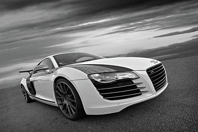 Photograph - Audi R8 In Black And White by Gill Billington