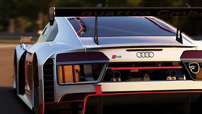 Photograph - Audi R8 Lms - 06 by Andrea Mazzocchetti