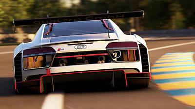 Photograph - Audi R8 Lms - 07 by Andrea Mazzocchetti