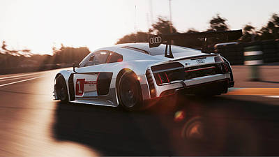 Photograph - Audi R8 Lms - 08 by Andrea Mazzocchetti