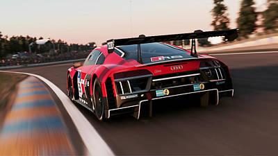 Photograph - Audi R8 Lms - 18 by Andrea Mazzocchetti