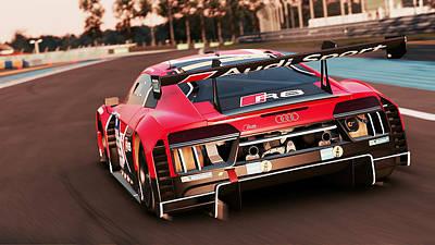 Photograph - Audi R8 Lms - 28 by Andrea Mazzocchetti