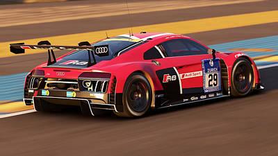 Photograph - Audi R8 Lms - 33 by Andrea Mazzocchetti
