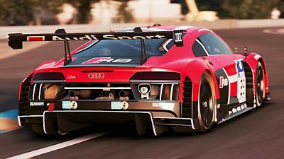 Photograph - Audi R8 Lms - 37 by Andrea Mazzocchetti