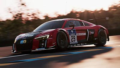 Photograph - Audi R8 Lms - 39 by Andrea Mazzocchetti