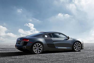 All Wheel Drive Digital Art - Audi R8 by Peter Chilelli