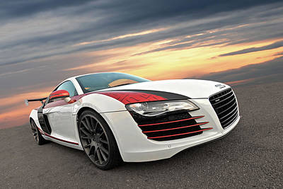 Photograph - Audi R8 Stasis At Sunset by Gill Billington