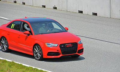 Photograph - Audi S3 Exits Turn 1 by Mike Martin
