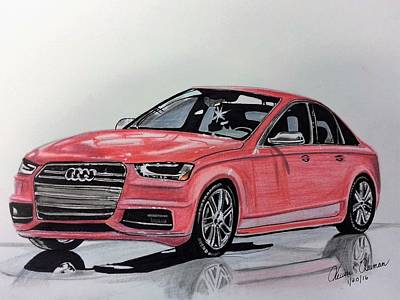 Mixed Media - Audi S4 by Kevin F Heuman
