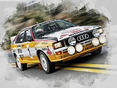 Painting - Audi Sport Quattro - 01 by Andrea Mazzocchetti