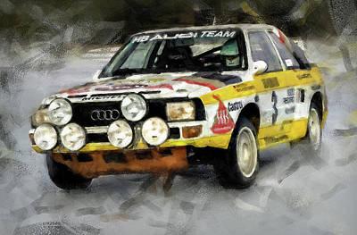 Painting - Audi Sport Quattro - 02 by Andrea Mazzocchetti