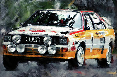 Painting - Audi Sport Quattro - 03 by Andrea Mazzocchetti