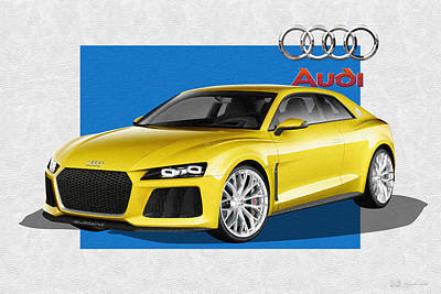 Digital Art - Audi Sport Quattro Concept With 3 D Badge  by Serge Averbukh