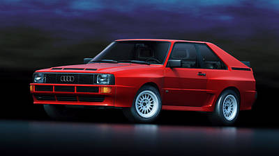 Art Print featuring the digital art Audi Sport Quattro by Marc Orphanos