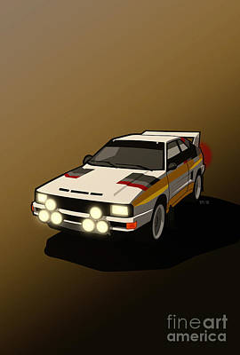 Audi Sport Quattro Ur-quattro Rally Poster Art Print by Monkey Crisis On Mars