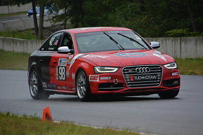 Photograph - Audi Watch Out Racing In The Rain by Mike Martin