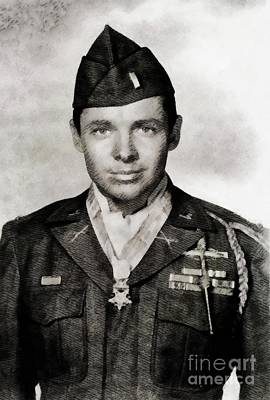 Musician Royalty-Free and Rights-Managed Images - Audie Murphy, Actor and War Hero by John Springfield
