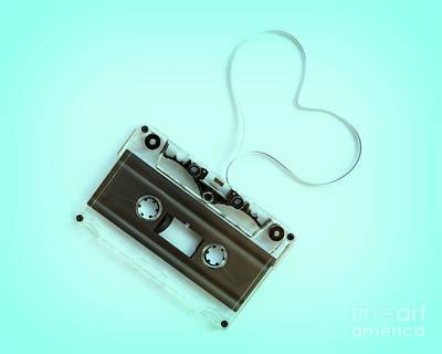 Photograph - Audio Cassette Love by Delphimages Photo Creations