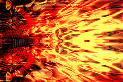 Digital Art - Audio Fire by Steve Ball