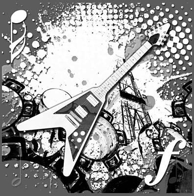 Splatter Digital Art - Audio Graphics 3 by Melissa Smith