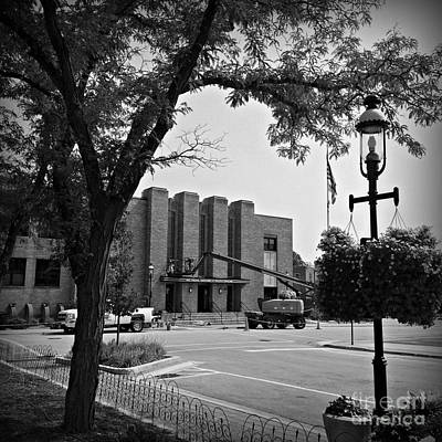 Frank J Casella Royalty-Free and Rights-Managed Images - Auditorium Building Maintenance by Frank J Casella