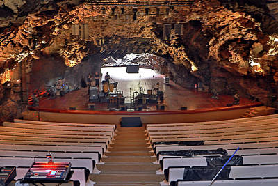 Photograph - Auditorium In Jameos Del Agua by Tony Murtagh