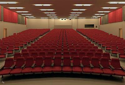 Digital Art - Auditorium by Ron Bissett