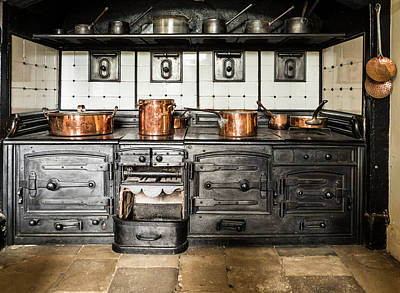 Photograph - Audley Hall Kitchen by Jean Noren