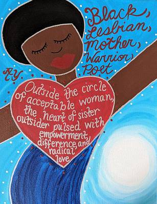 Painting - Audre Lorde by Angela Yarber
