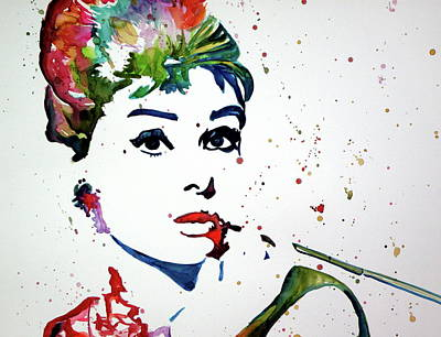 Painting - Audrey Cd by Kovacs Anna Brigitta