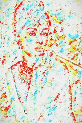 Painting - Audrey Color Splash by Dan Sproul