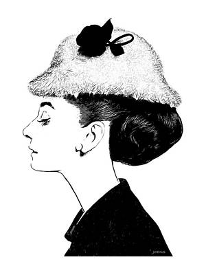 Audrey Art Print by Greg Joens