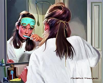 Mixed Media - Audrey Hepburn @ Breakfast At Tiffanys #5 by Gabriel T Toro