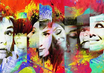 Audrey Digital Art - Audrey Hepburn 4 by Diana Van